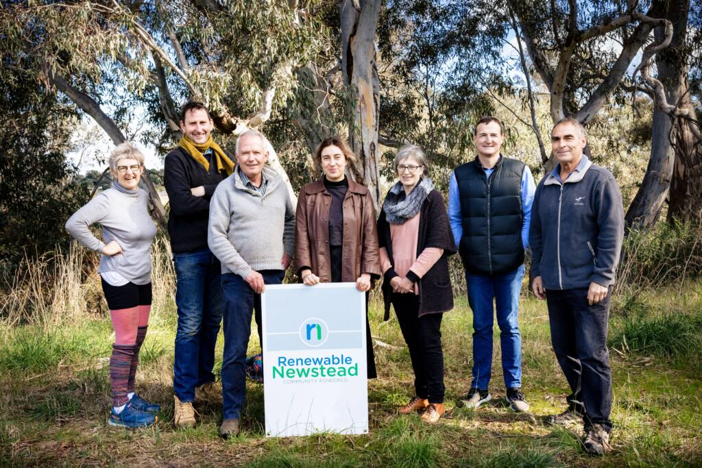 Renewable Newstead Committee standing on the river bank